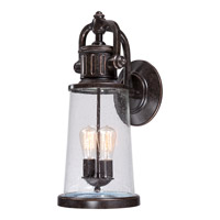 Quoizel Steadman 2 Light Outdoor Wall Lantern in Imperial Bronze SDN8409IBFL