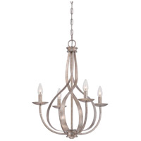 Serenity 4 Light 20 inch Italian Fresco Chandelier Ceiling Light