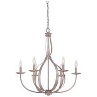 Serenity 6 Light 27 inch Italian Fresco Chandelier Ceiling Light