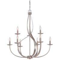 Serenity 9 Light 30 inch Italian Fresco Foyer Chandelier Ceiling Light