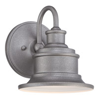 Quoizel Seaford 1 Light Outdoor Wall Lantern in Galvanized SFD8407GVFL