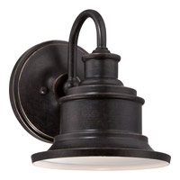 Quoizel Seaford 1 Light Outdoor Wall Lantern in Imperial Bronze SFD8407IBFL