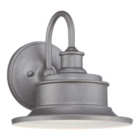 Quoizel Seaford 1 Light Outdoor Wall Lantern in Galvanized SFD8409GVFL