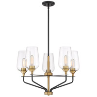 Sagamore 5 Light 26 inch Earth Black Chandelier Ceiling Light