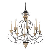 Quoizel Lighting Shelby 8 Light Chandelier in Sand Bisque And Earth Black Combination SHL5008SEC alternative photo thumbnail