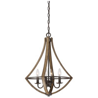 Shire 4 Light 18 inch Rustic Black Dinette Chandelier Ceiling Light