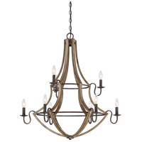 Shire 9 Light 33 inch Rustic Black Chandelier Ceiling Light