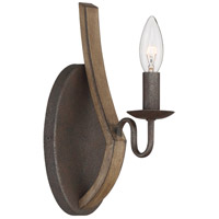 Quoizel SHR8701RK Shire 1 Light 5 inch Rustic Black Wall Sconce Wall Light