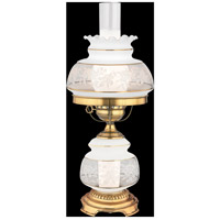 Satin Lace 20 inch 150 watt Gold Polished Flem Table Lamp Portable Light