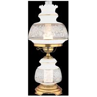 Satin Lace 24 inch 150 watt Gold Polished Flem Table Lamp Portable Light