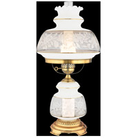 Satin Lace 28 inch 150 watt Gold Polished Flem Table Lamp Portable Light