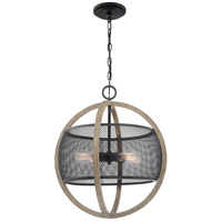 Quoizel SLA5204MB Slater 4 Light 20 inch Mottled Black Pendant Ceiling Light
