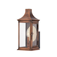 Quoizel Lighting Salem 1 Light Outdoor Wall Lantern in Aged Copper SLM8306AC