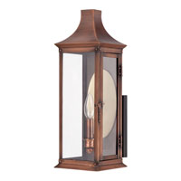 Quoizel Lighting Salem 1 Light Outdoor Wall Lantern in Aged Copper SLM8406AC alternative photo thumbnail