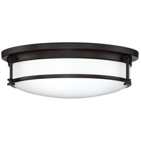 Quoizel SLR1616WT Sailor 3 Light 16 inch Western Bronze Flush Mount Ceiling Light, Large