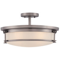 Quoizel Sailor 4 Light Semi-Flush Mount in Antique Nickel SLR1716AN