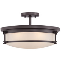 Sailor 4 Light 16 inch Western Bronze Semi-Flush Mount Ceiling Light