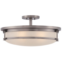 Sailor 5 Light 20 inch Antique Nickel Semi-Flush Mount Ceiling Light