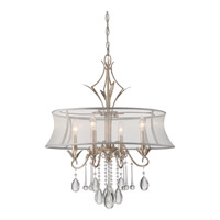 Silhouette 4 Light 24 inch Italian Fresco Chandelier Ceiling Light