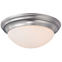 Summit 1 Light 12 inch Brushed Nickel Flush Mount Ceiling Light