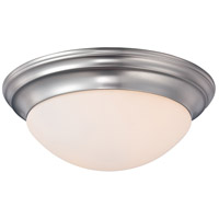 Summit 2 Light 14 inch Brushed Nickel Flush Mount Ceiling Light