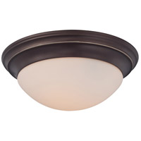 Summit 3 Light 17 inch Palladian Bronze Flush Mount Ceiling Light