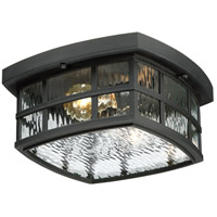 Quoizel Stonington 2 Light Outdoor Flush Mount in Mystic Black SNN1612K