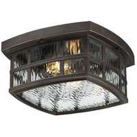 Quoizel Stonington 2 Light Outdoor Flush Mount in Palladian Bronze SNN1612PN