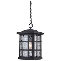 Stonington 1 Light 10 inch Mystic Black Outdoor Hanging in A19 Medium Base