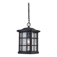 Quoizel Stonington 1 Light Outdoor Hanging Lantern in Mystic Black SNN1909KFL