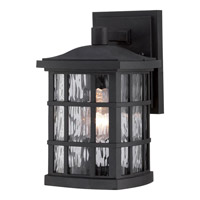 Quoizel Stonington 1 Light Outdoor Wall Lantern in Mystic Black SNN8406KFL
