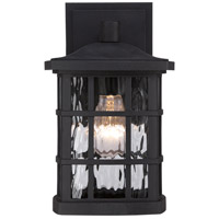 Quoizel SNN8406K Stonington 1 Light 11 inch Mystic Black Outdoor Wall in A19 Medium Base  alternative photo thumbnail
