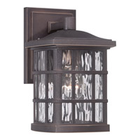 Quoizel Stonington 1 Light Outdoor Wall Lantern in Palladian Bronze SNN8406PNFL