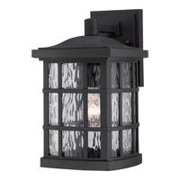 Quoizel Stonington 1 Light Outdoor Wall Lantern in Mystic Black SNN8408KFL