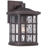 Quoizel Lighting Stonington 1 Light Outdoor Wall Lantern in Palladian Bronze SNN8408PN