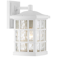 Quoizel SNN8408W Stonington 1 Light 8 inch Fresco Wall Lantern Wall Light in A19 Medium Base