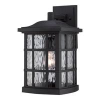 Quoizel Stonington 1 Light Outdoor Wall Lantern in Mystic Black SNN8409KFL