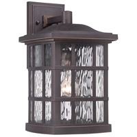Quoizel Lighting Stonington 1 Light Outdoor Wall Lantern in Palladian Bronze SNN8409PN