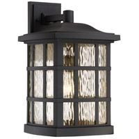 Quoizel Stonington 1 Light Outdoor Wall Lantern in Matte black SNN8411K