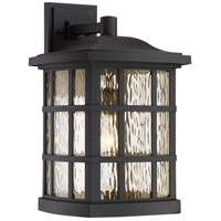 Quoizel Stonington 1 Light Outdoor Wall Lantern in Matte black SNN8411KFL