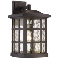 Quoizel Stonington 1 Light Outdoor Wall Lantern in Palladian Bronze SNN8411PNFL