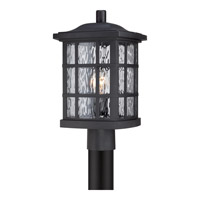 Quoizel Stonington 1 Light Outdoor Post Lantern in Mystic Black SNN9009KFL