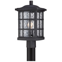 Quoizel Stonington 1 Light Outdoor Post Mount in Mystic Black SNN9009K
