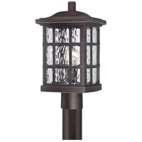 Stonington 1 Light 17 inch Palladian Bronze Post Lantern in A19 Medium Base