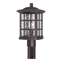 Quoizel Stonington 1 Light Outdoor Post Lantern in Palladian Bronze SNN9009PNFL
