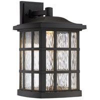 Stonington 17 inch Mystic Black Outdoor Wall Lantern