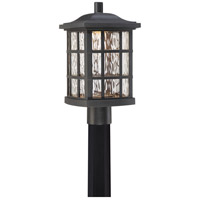 Stonington LED 17 inch Mystic Black Outdoor Post Lantern