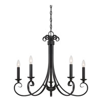 Quoizel Lighting Salinas 5 Light Chandelier in Mystic Black SNS5005K