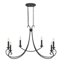 Quoizel Lighting Salinas 6 Light Island Light in Mystic Black SNS633K