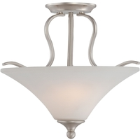 Quoizel Lighting Sophia 2 Light Semi-Flush Mount in Brushed Nickel SPH1716BN